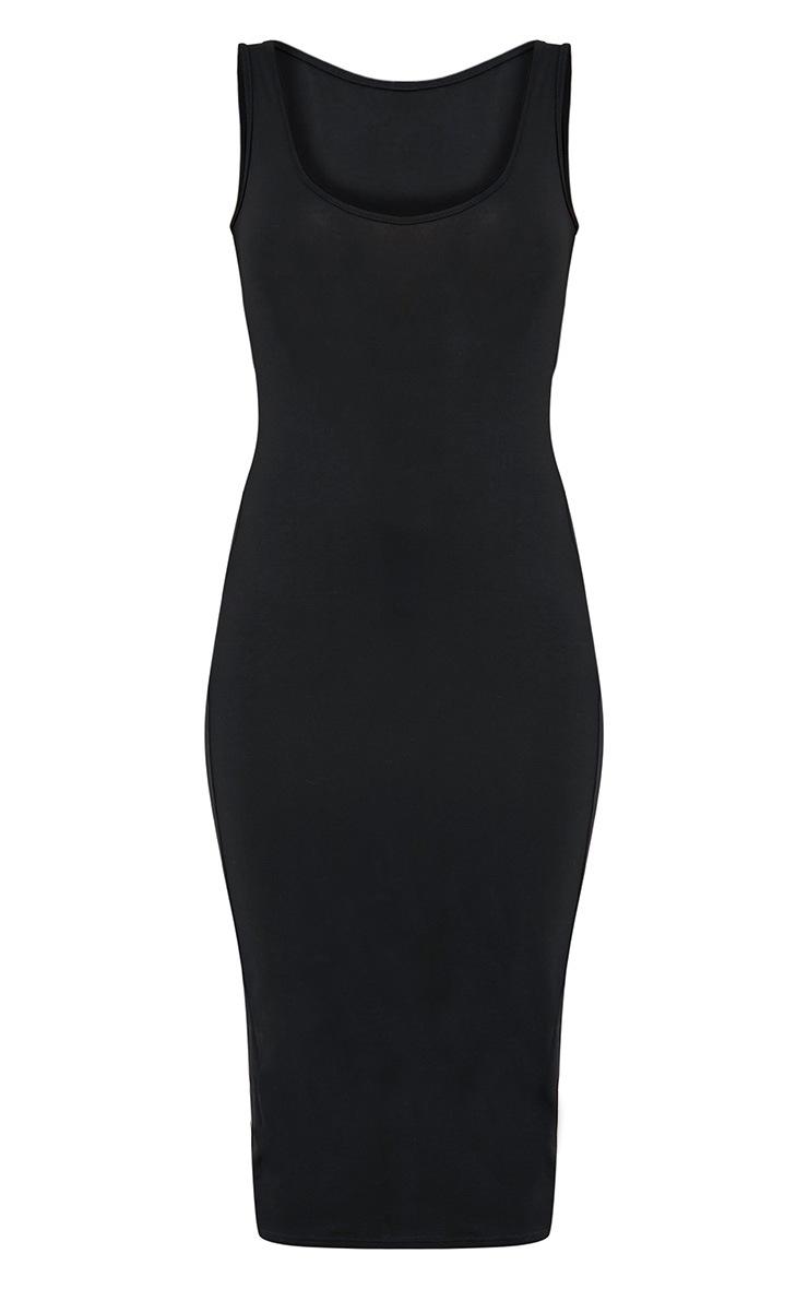 Mirah Black Scoop Neck Midaxi Dress 3