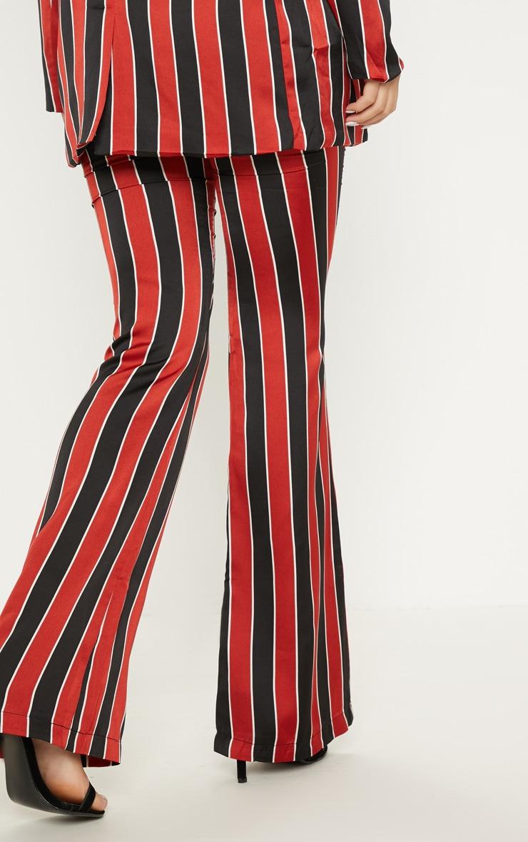 Red Stripe Straight Leg Pants  4