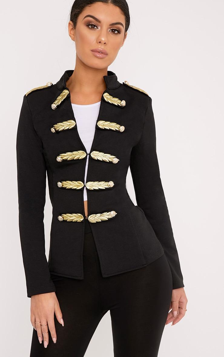 Braeley Black Military Style Blazer 1