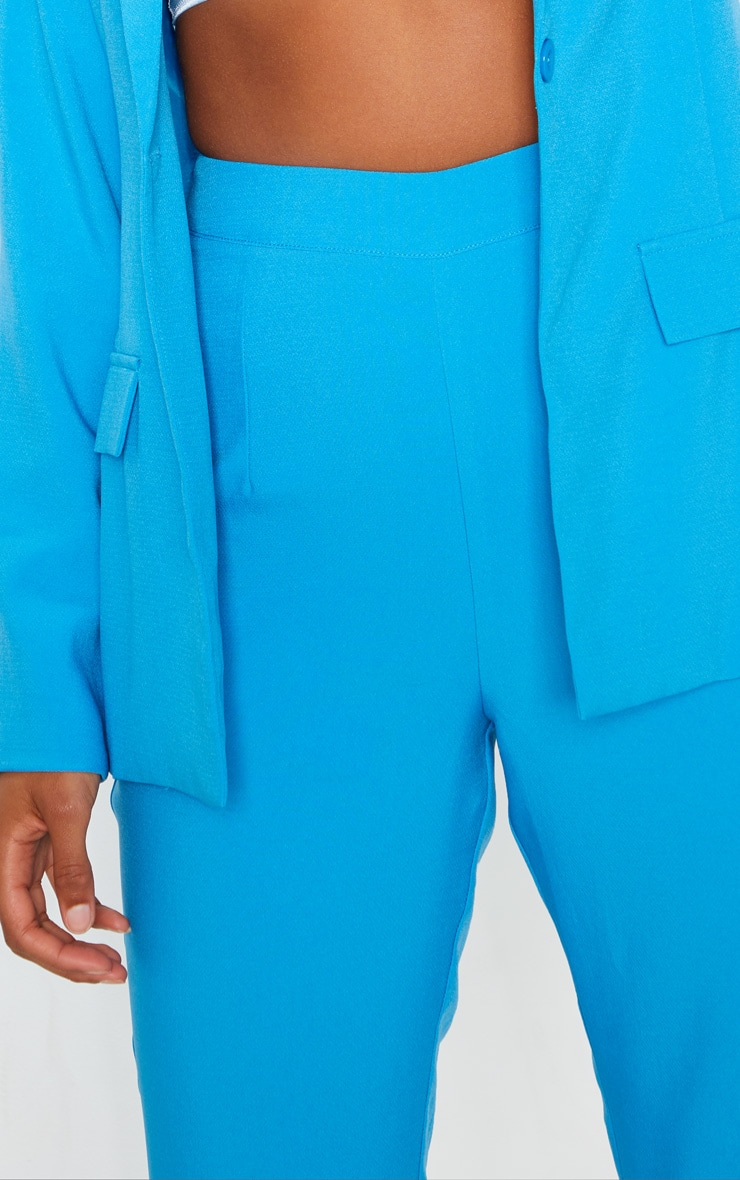 Blue Wide Legged Suit Trouser  5