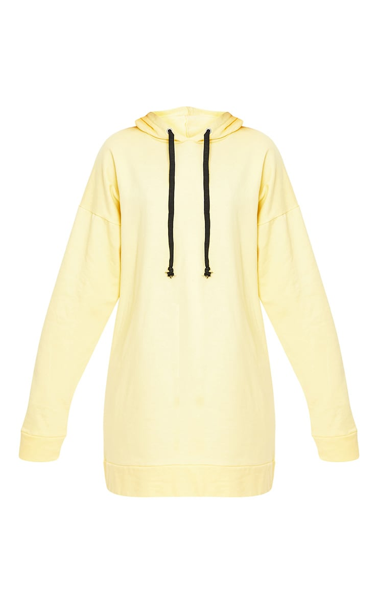 Anuliar Yellow Hooded Jumper Dress with Contrast Ties 3