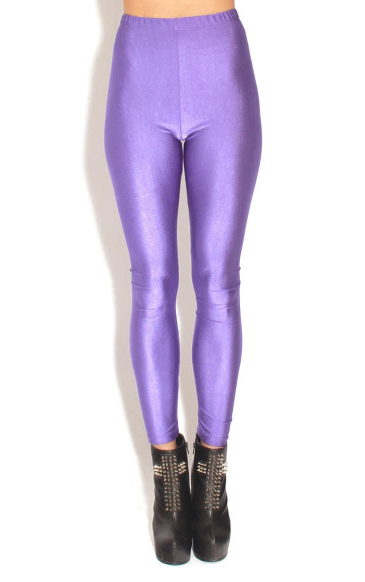 Chloe Purple High Waisted Disco Pants 1