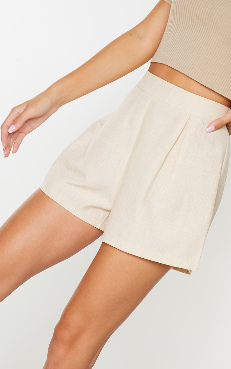Stone Woven Textured Shorts 5