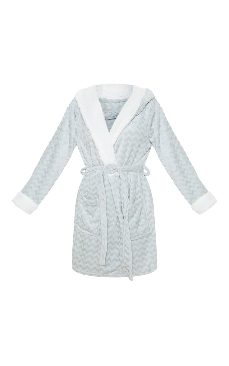 Grey Novelty Ears Dressing Gown 3