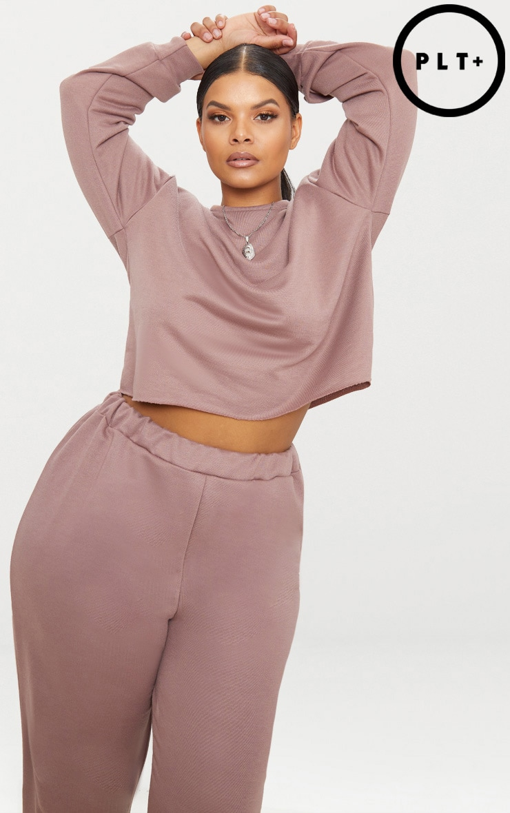 Plus Dark Mauve Sweater 1
