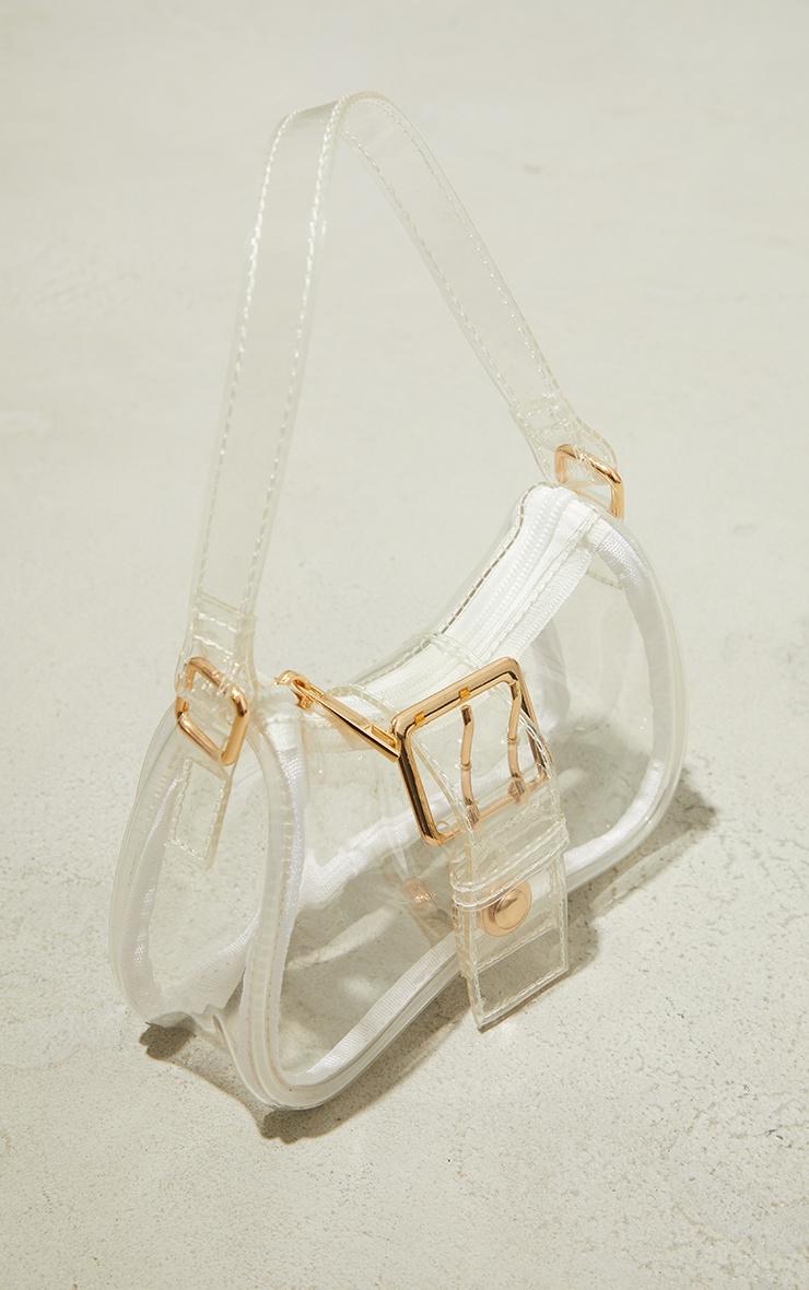 Clear Front Buckle Shoulder Bag 3