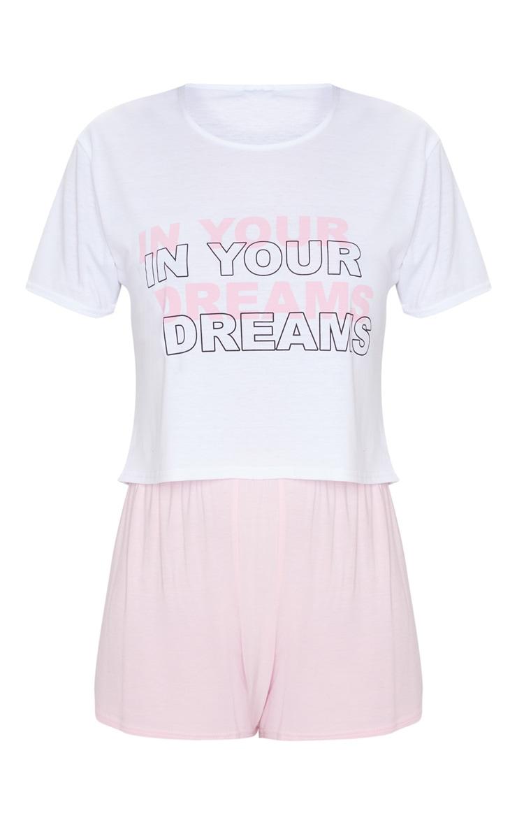 Pink In Your Dreams Print Short Pj Set 5