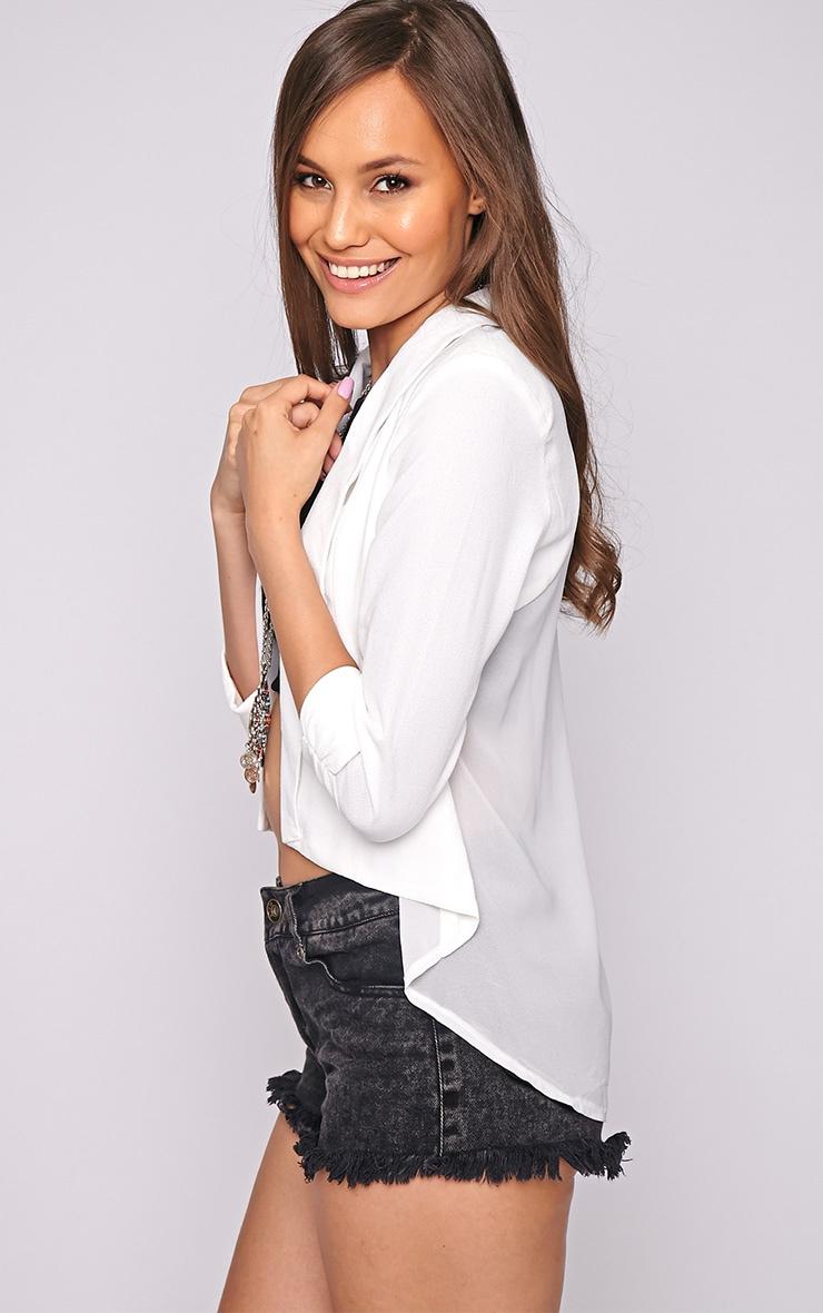 Laila White Mesh Back Blazer  1
