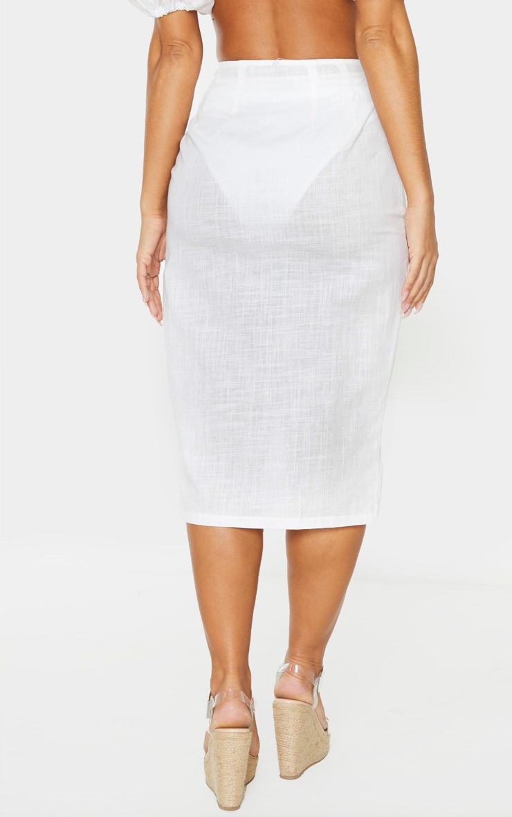 White Button Down Beach Skirt 4
