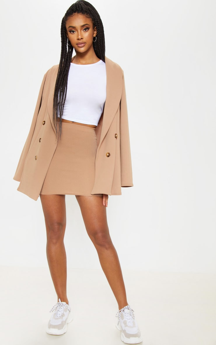 Camel Mini Suit Skirt 1