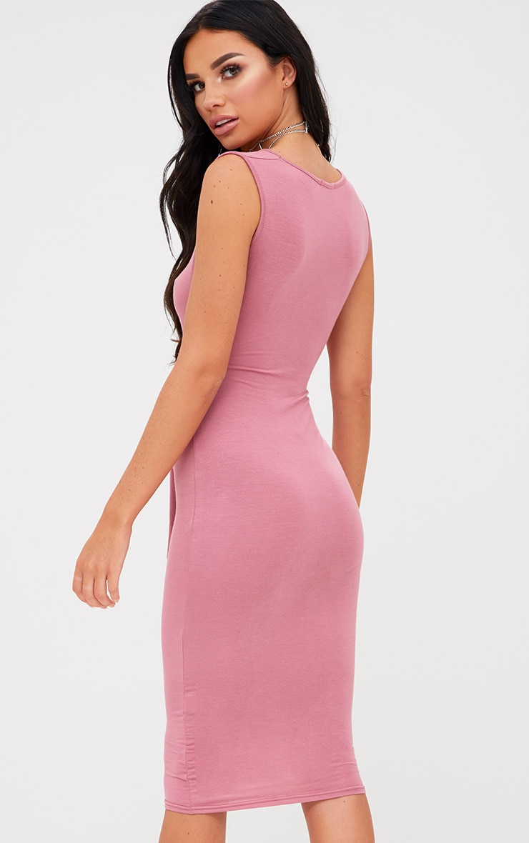 Rose Cut Out Tie Front Midi Dress 2