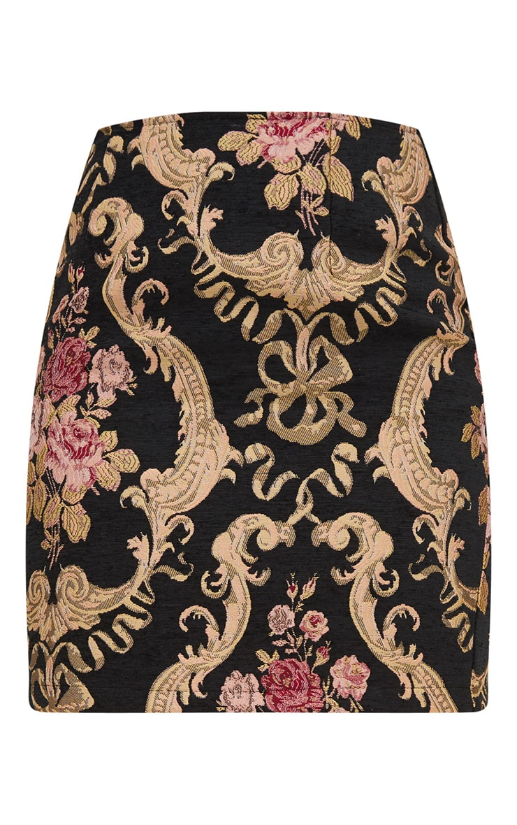 Black Embroidered Mini Skirt 3