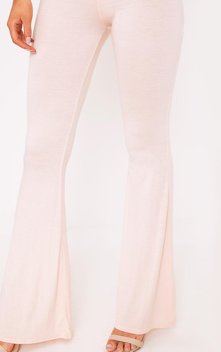 Cilla Nude Basic Jersey Flare Leg Jumpsuit 5