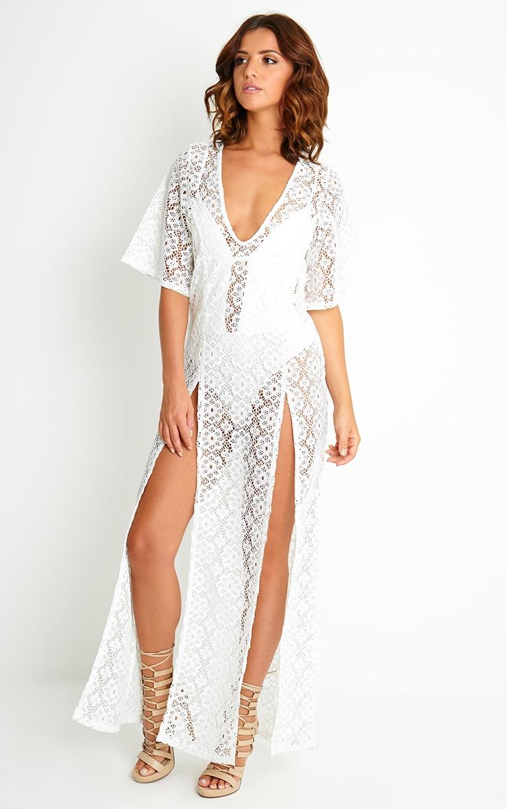Shona Cream Crochet Maxi Dress 3