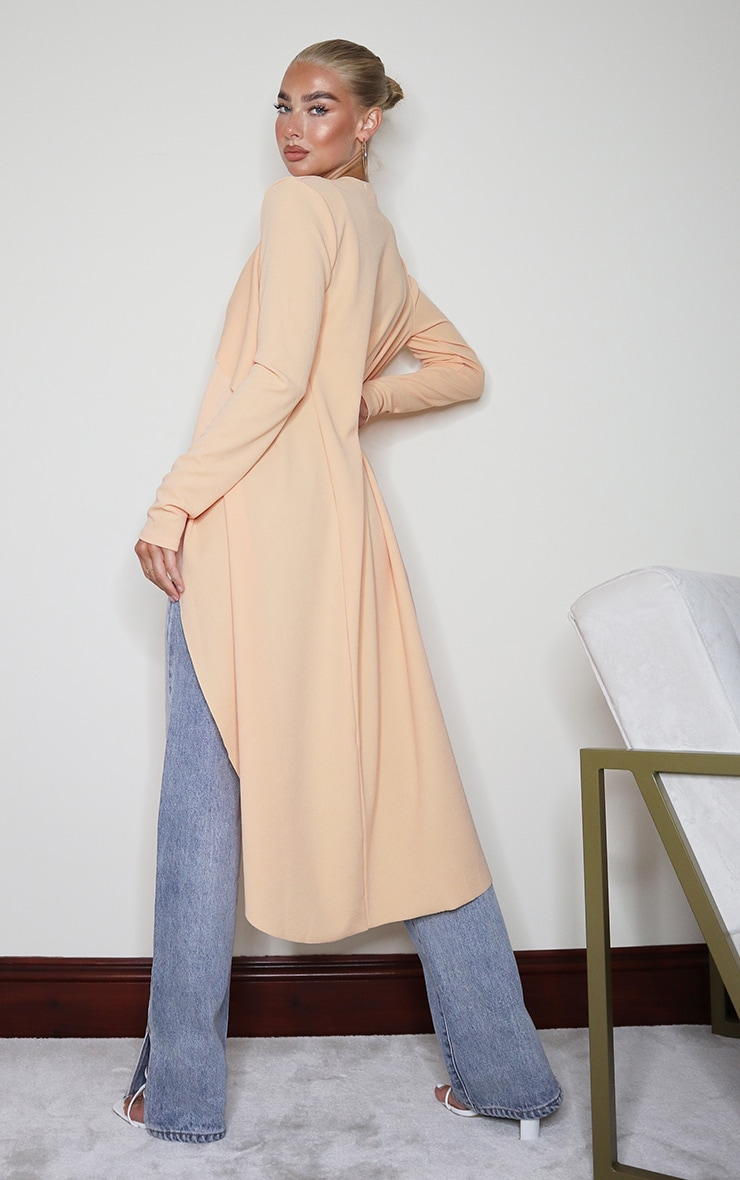 Peach Waterfall Maxi Duster Jacket 2