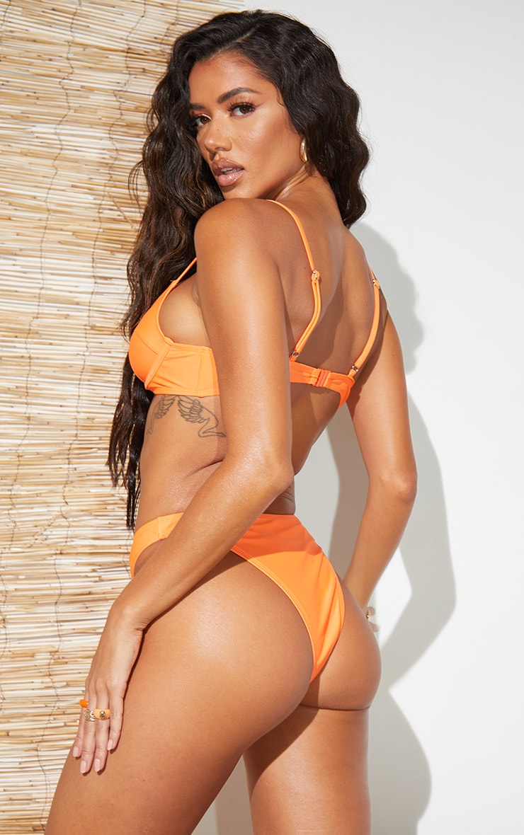 Recycled Orange Mix & Match Balconette Bikini Top 2