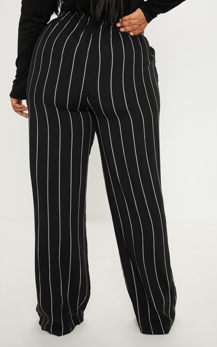 Plus Black Casual Wide Leg Trouser 4