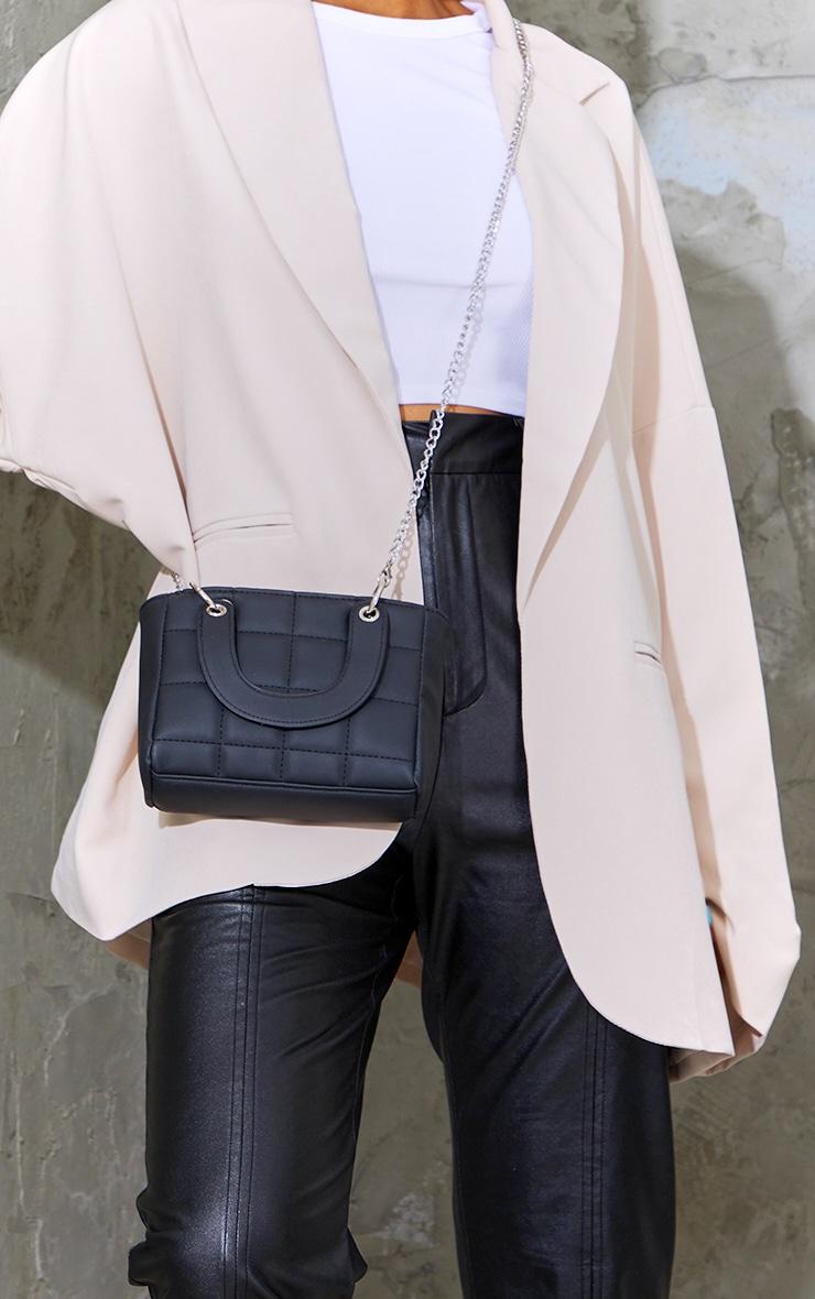 Black Quilted Mini Handbag 1