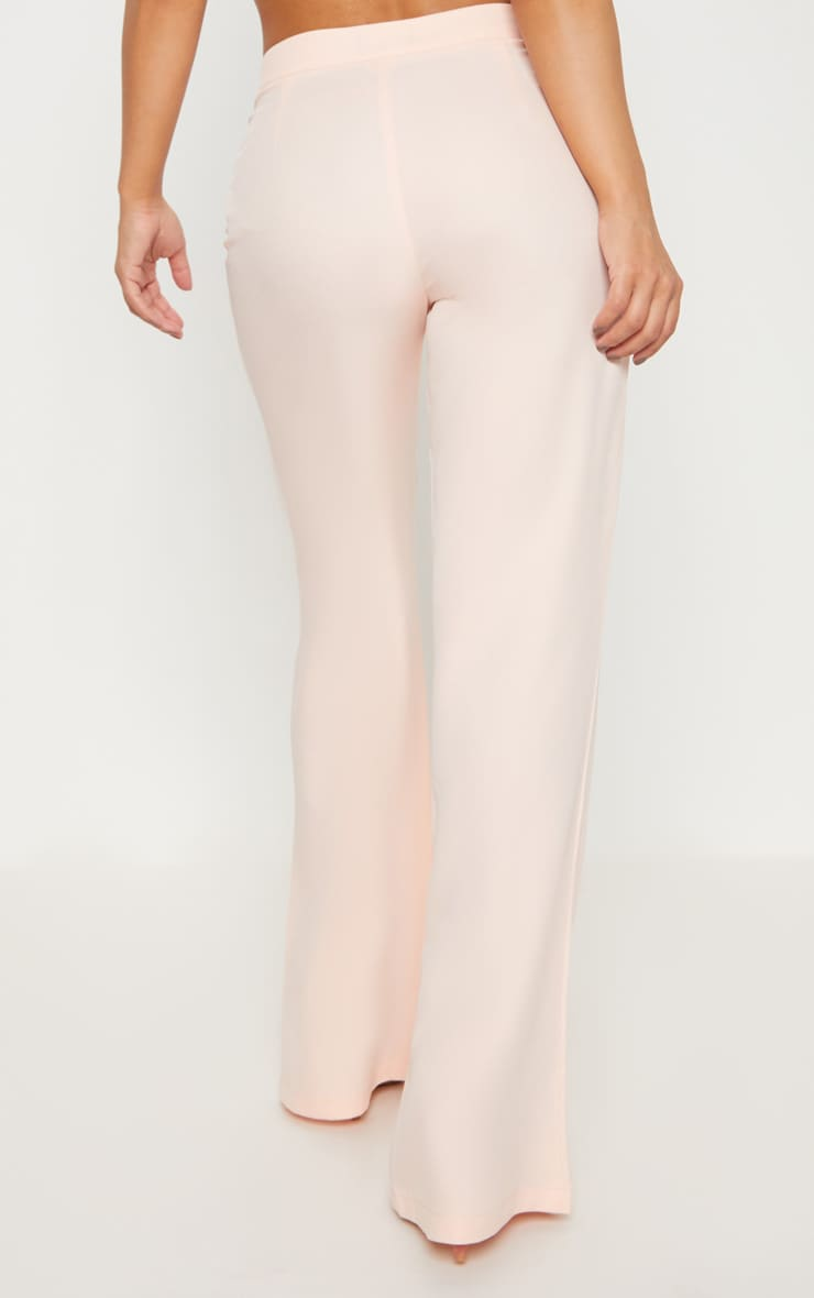 Petite Nude Woven Wide Leg Suit Trousers 4