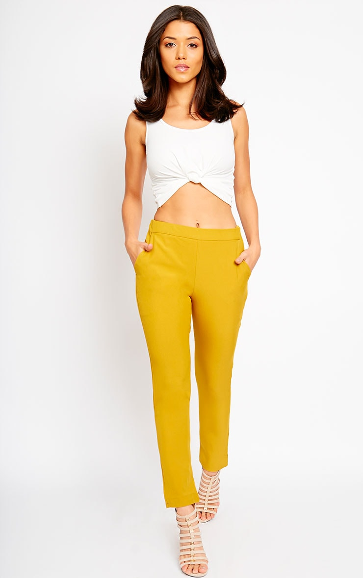 Kit Mustard Trousers 1