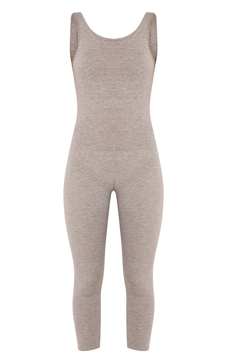 Katie Grey Scoop Back Fitted Cropped Leg Jumpsuit 3