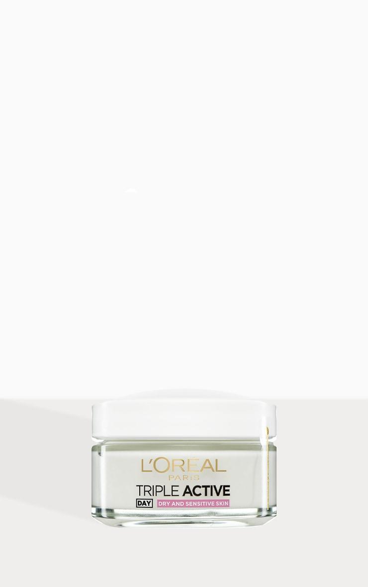 L'Oreal Paris Triple Active Day Moisturiser Dry and Sensitive Skin 50ml 1