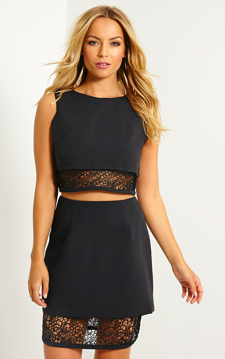 Aisling Black Lace Insert Top 4