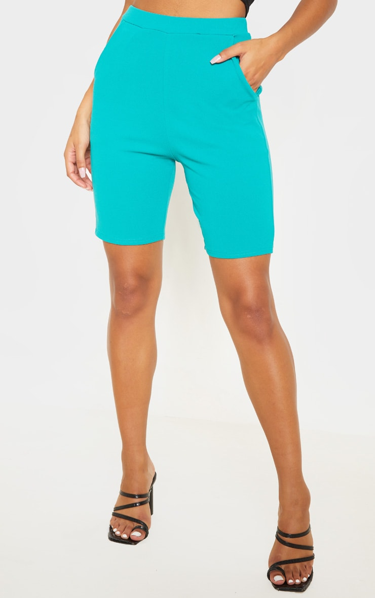 Teal Cycling Suit Shorts  2