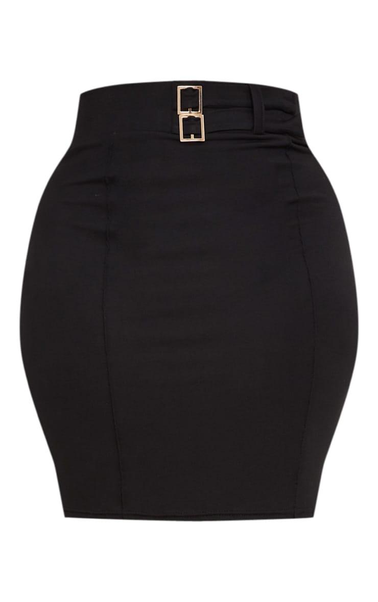 Plus - Jupe noire moulante à taille haute 3