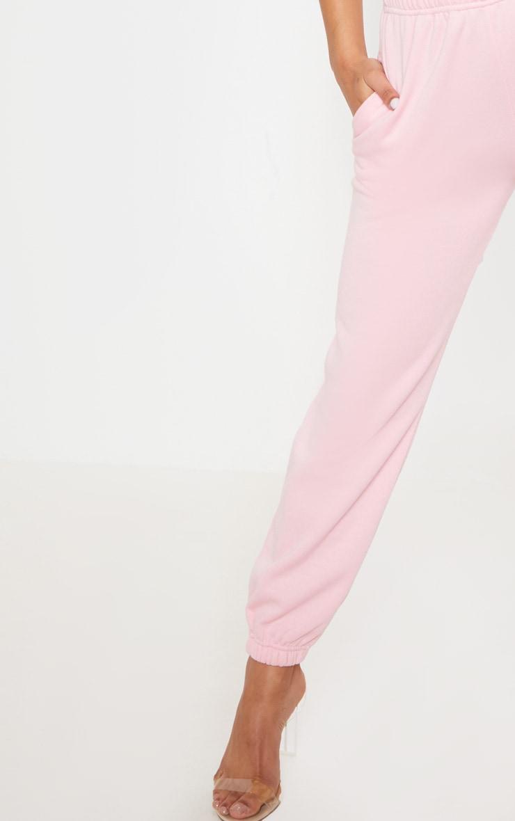 Pantalon de jogging rose pastel casual 5