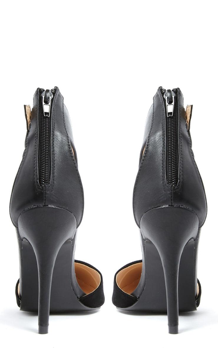 Katherine Black Pointed Strap Heels 3