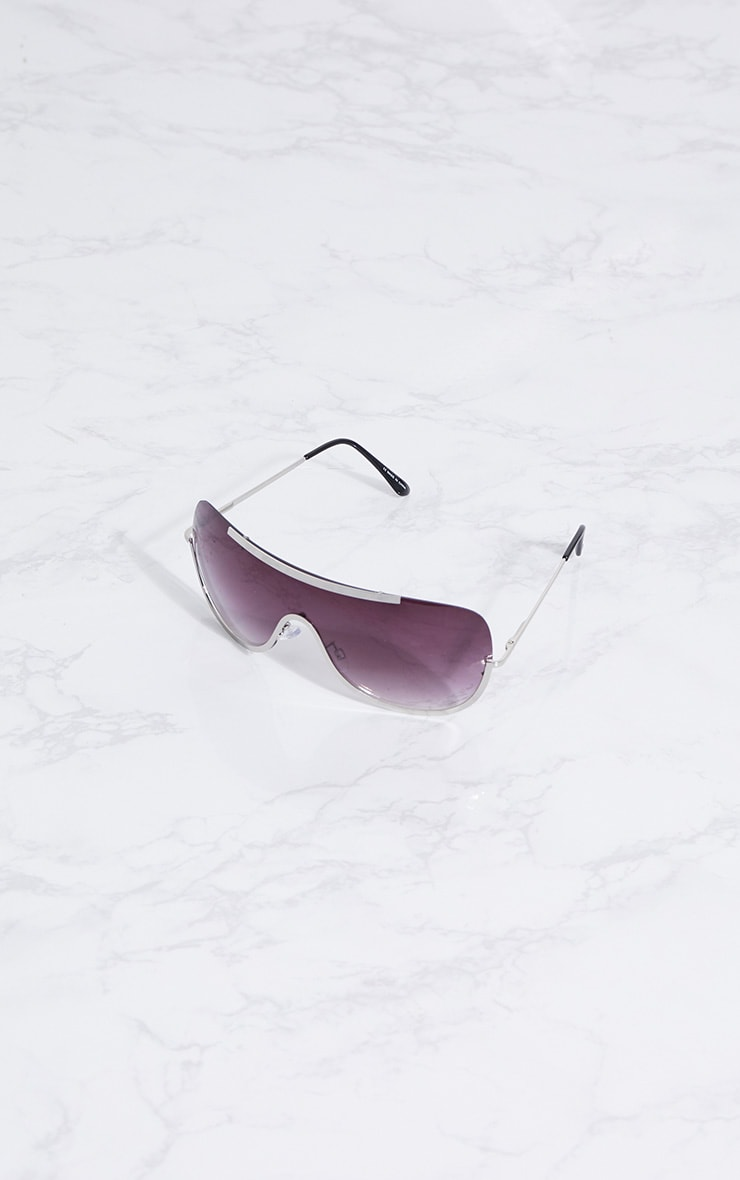 Silver Curve Flat Top Sunglasses 2