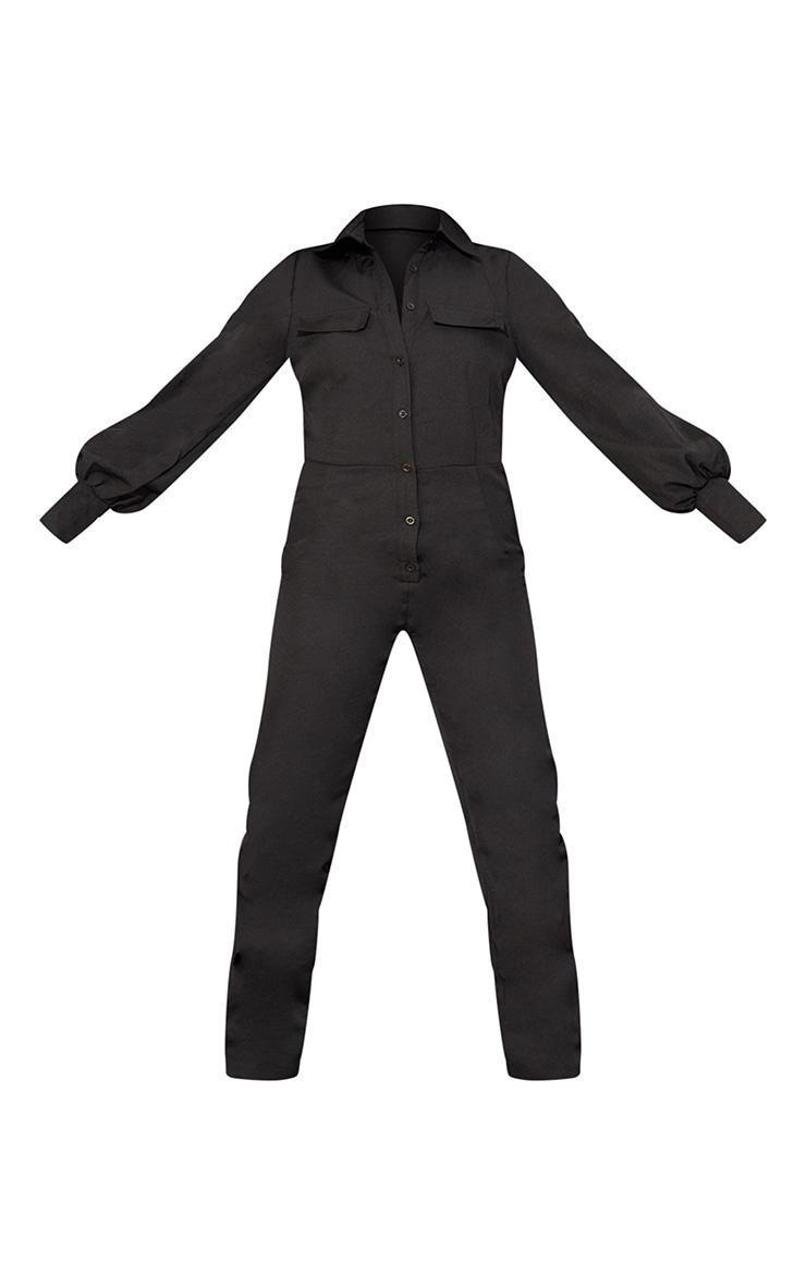 Petite Black Full Sleeve Pocket Detail Jumpsuit 5