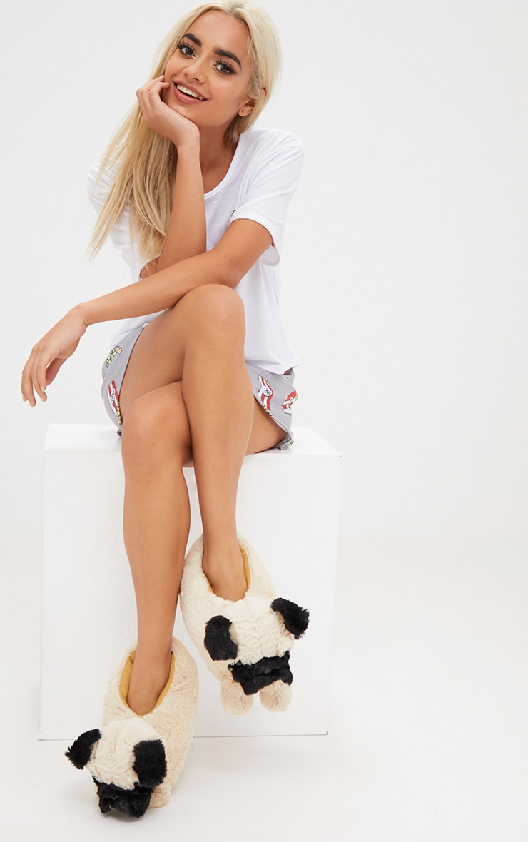 Brown Pug Slippers 4
