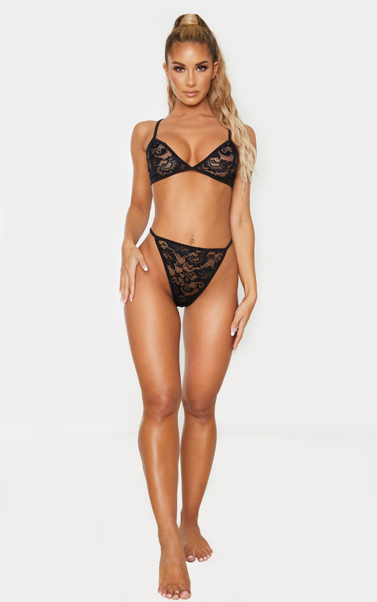 Basic Black Lace Lingerie Set 5