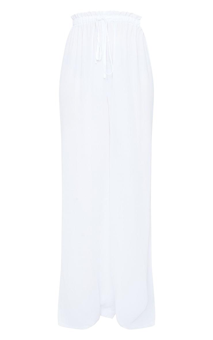 White Tie Waist Beach Pants 5