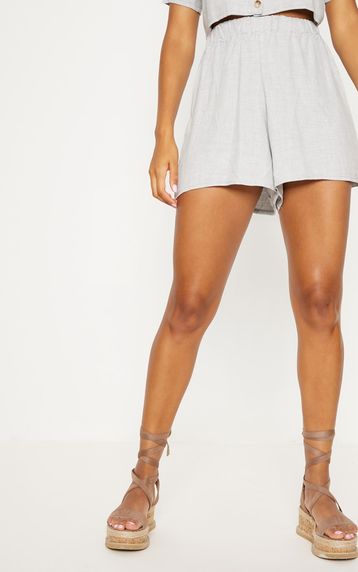 Pale Grey Lightweight Short 2