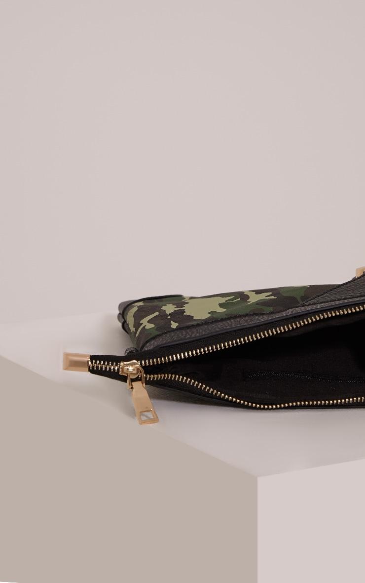 Devin Green Camouflage Clutch Bag 6