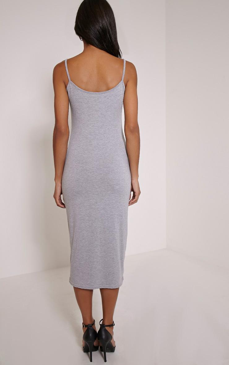 Basic robe débardeur midi grise 2