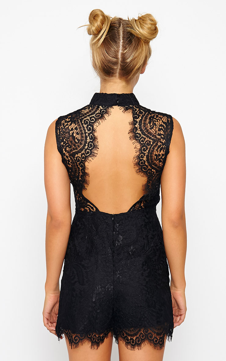Xara Black Lace Romper 2