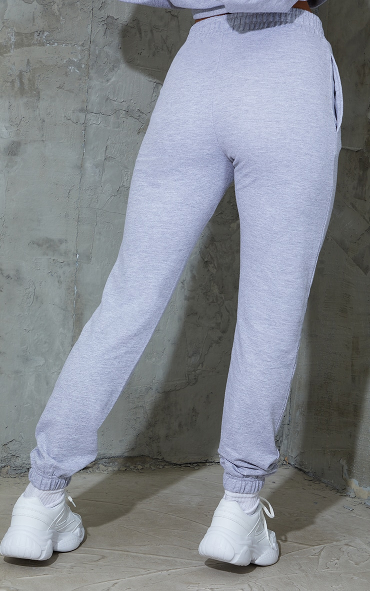 Grey Sports Embroidered Joggers 3
