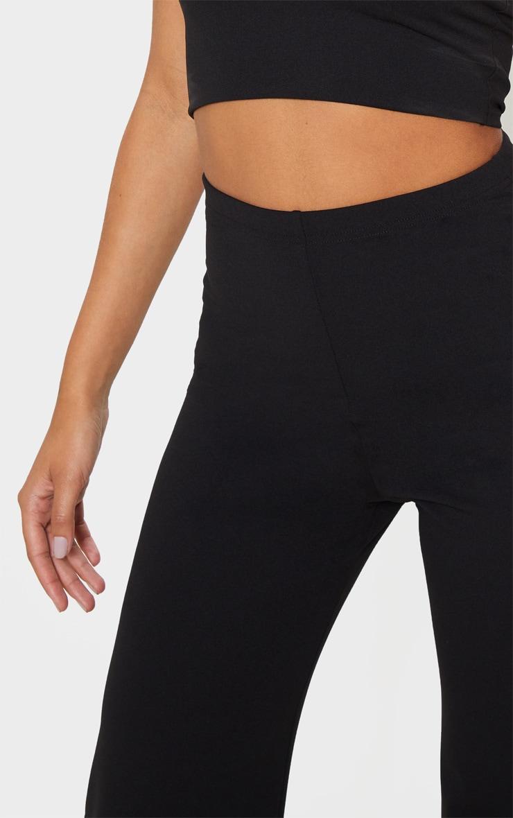 Black Crepe High Waisted Wide Leg Pants 5