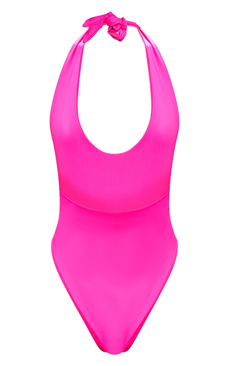 Pink Plunge High Rise Swimsuit 4