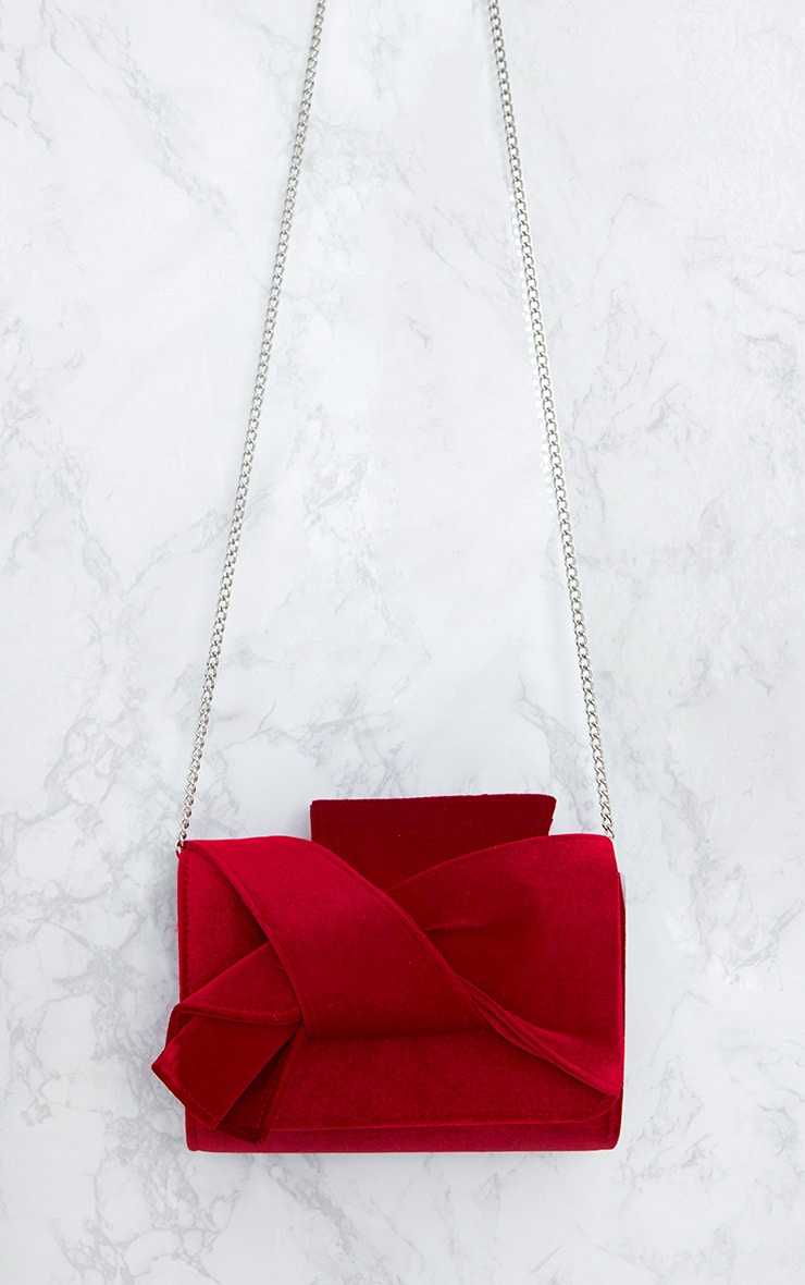 Red Velvet Bow Bag 5