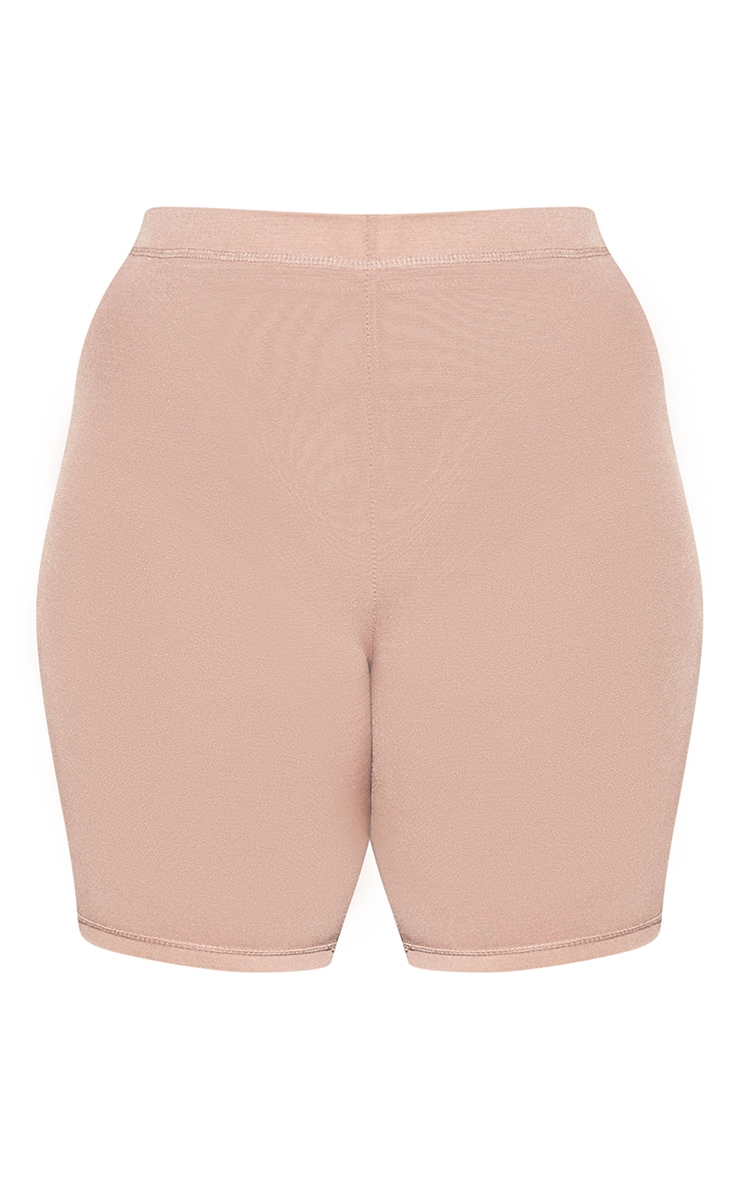 PLT Plus Seconde Peau - Short de lingerie en mesh argile à taille haute 6