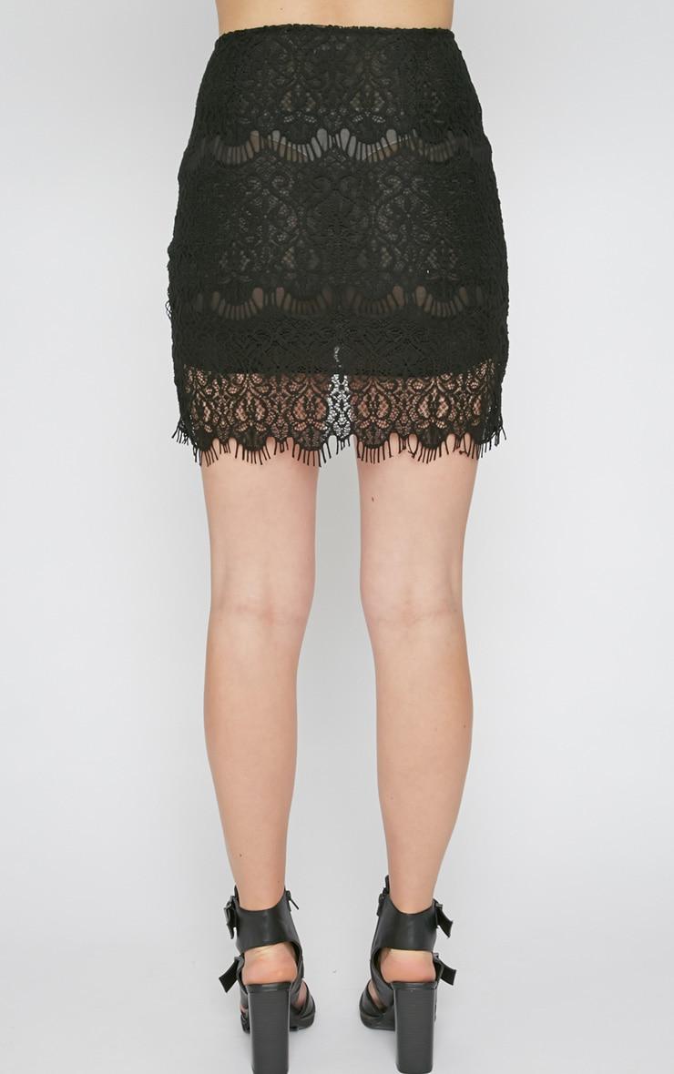 Jorja Black Lace Mini Skirt  2