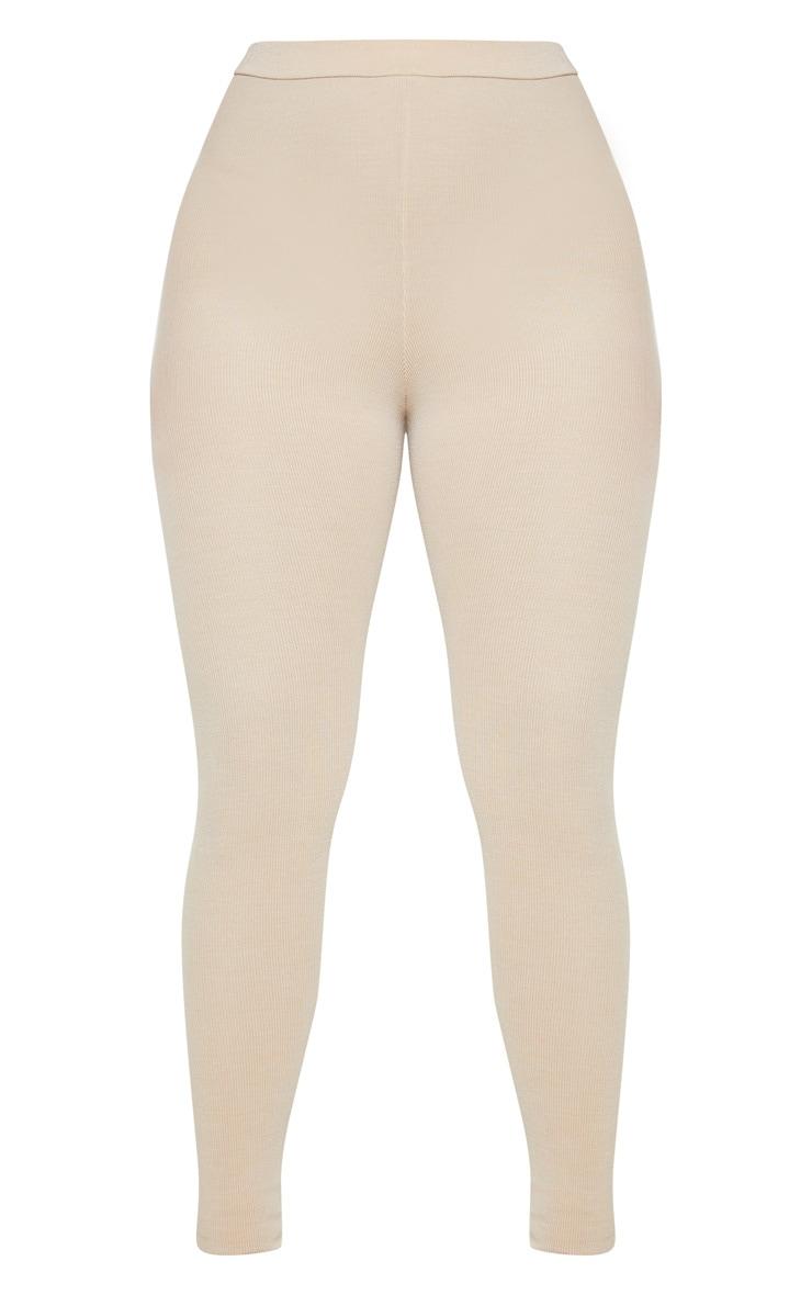 Oatmeal Fine Rib Legging 3