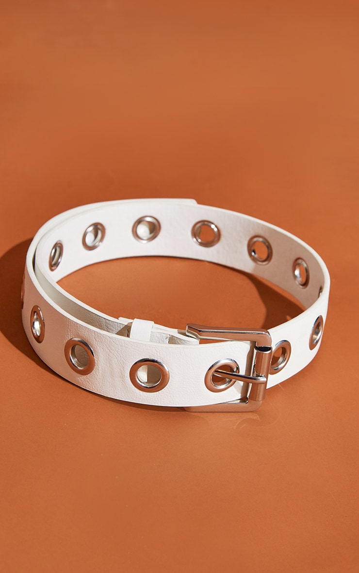 White Eyelet Belt 2