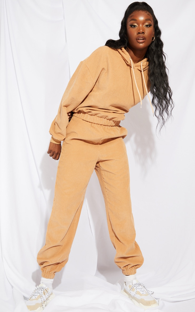 Tall Stone Oversized Cord Detail Joggers 1