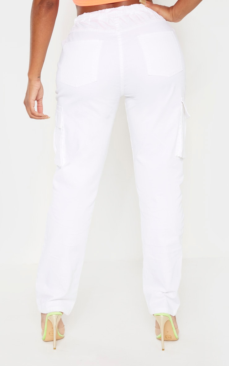 Shape White Cargo Jeans 4
